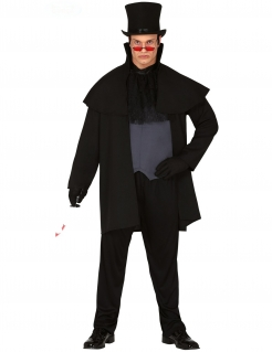 19. Jahrhundert Serienkiller-Kostüm für Herren schwarz-grau
