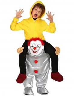 Horrorclown Carry-Me Kostüm für Kinder bunt