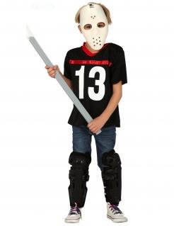 Der Hockey-Mörder Kinder-Filmkostüm schwarz-weiss-rot