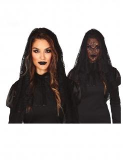 Schleier Halloween-Accessoire schwarz