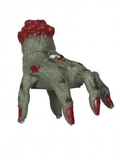 Zombie-Hand mit Bewegung und Geräuschen grün-rot