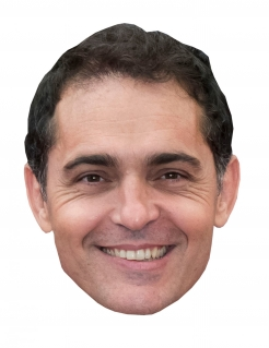 Bankräuber-Maske Pedro Alonso Halloween-Pappmaske hautfarben-braun