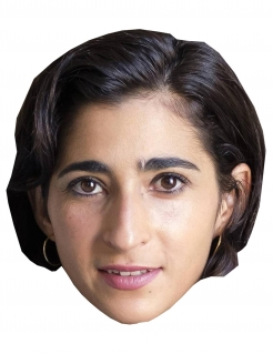 Bankräuber-Maske Alba Flores Halloween-Maske hautfarben-braun