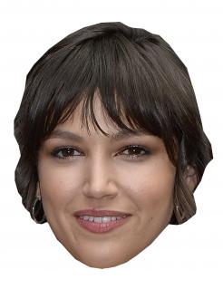 Bankräuber-Maske Ursula Corbero Halloween-Pappmaske beige-braun