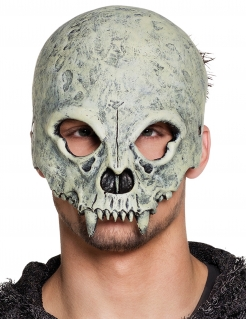 Monster-Totenschädel-Maske für Erwachsene weiß-schwarz