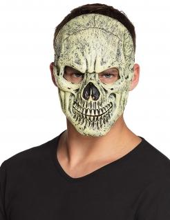 Horror Totenschädel-Maske für Erwachsene weiß-schwarz