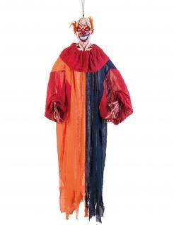 Diabolischer Horrorclown Hängedeko für Halloween bunt 165 cm