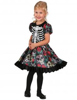 Skelett-Ballerina Tag der Toten-Kostüm für Mädchen bunt
