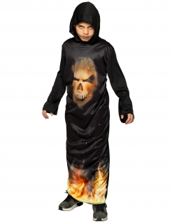 Teufelsanbeter-Kostüm für Kinder Halloweenkostüm schwarz