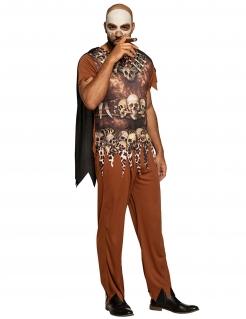Herren-Voodookostüm Halloweenkostüm braun