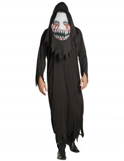 Scheusliches Monster mit Riesenkopf Herren-Kostüm schwarz-weiss-rot