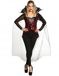 Vampirin-Damenkostüm Halloween-Kostüm schwarz-rot