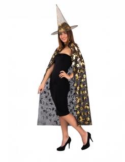 Hexen Accessoire-Set für Damen 2-teilig schwarz-goldfarben