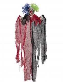 Gruselclown-Hängedeko für Halloween bunt 65 cm