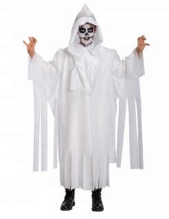 Skelett-Geist Kostüm für Kinder weiss