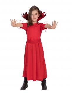 Sußes Teufelin-Kostüm für Mädchen rot