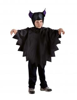 Fledermaus-Kostüm für Kinder schwarz-violett