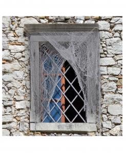 Zerrissener Fetzen-Vorhang für Halloween grau 200 x 75 cm
