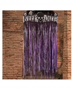 Horror-Vorhang für Halloween violett-schwarz 145 x 90 cm