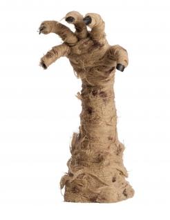 Animierte Mumien-Hand beigefarben-schwarz 40 cm