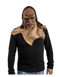Monster-Maske für Erwachsene braun-schwarz