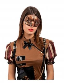 Steampunk-Augenmaske für Damen bronzefarben
