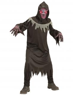 Teuflischer Dämon Kinderkostüm für Halloween schwarz-rot