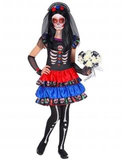 Día de los Muertos-Kinderkostüm Halloweenkostüm bunt
