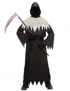 Sensenmann-Herrenkostüm mit Maske Halloweenkostüm schwarz-weiss