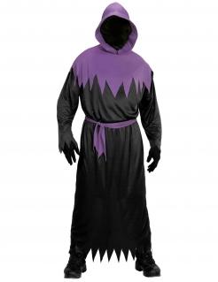Finsterer Sensenmann Herren-Kostüm schwarz-violett