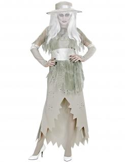 Geisterlady-Kostüm für Damen Halloweenkostüm grau