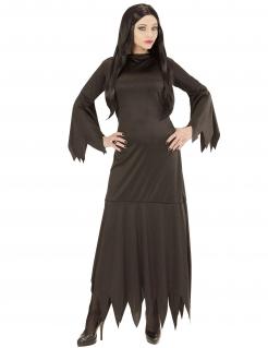 Unheimliche Gothic-Lady Damen-Kostüm schwarz