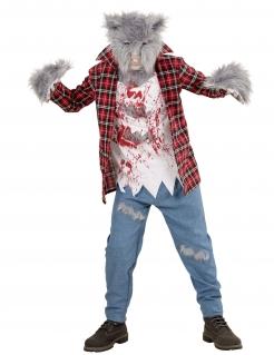 Wilder Werwolf Kinder-Kostüm bunt