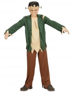Schreckliches Monster-Kinderkostüm Halloween-Kostüm beige-grün-braun