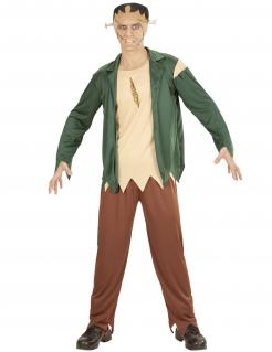 Monsterkostüm für Herren Halloweenkostüm beige-grün