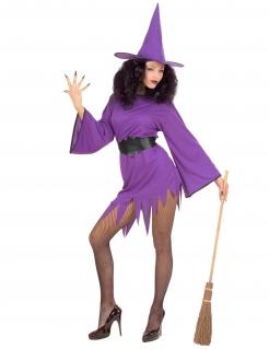 Heiße Hexe Damen-Kostüm violett-schwarz