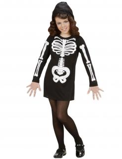 Skelett-Kostüm für Kinder schwarz-weiss