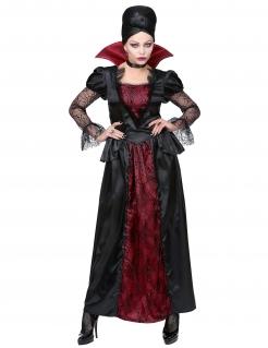 Elegante Vampirlady Damen-Kostüm schwarz-rot