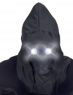 Düstergeist LED-Vollmaske für Erwachsene schwarz-weiß
