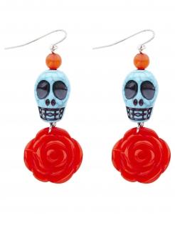 Dia de los Muertos-Ohrringe für Damen bunt