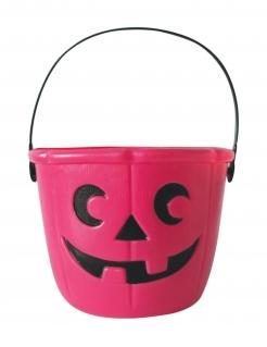 Halloween-Eimer Kürbis pink 17 cm