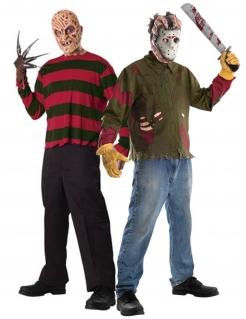 Freddy Krueger™ und Jason™ Halloween-Paarkostüm für Erwachsene bunt