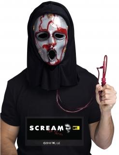 Scream™ Lizenz-Maske für Herren schwarz-grau-rot