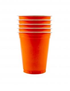 Partybecher aus Kunststoff 20 Stück orange 530 ml