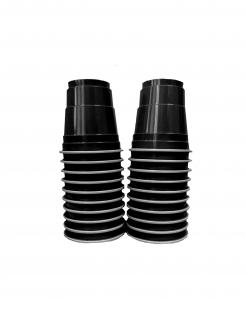 Einweg-Schnapsgläser Halloween- Zubehör 20 Stück schwarz 40 ml