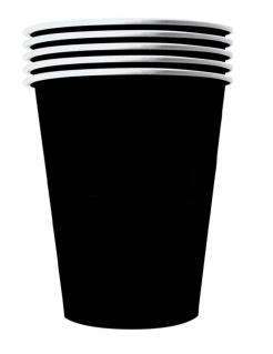Finstere Pappbecher gross 20 Stück schwarz 530 ml