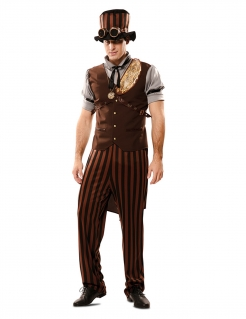 Steampunk-Kostüm für Herren viktorianisches Zeitalter braun