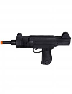 Spielzeug-Gewehr mit Sound Halloween-Kostümzubehör schwarz-orange 38 cm