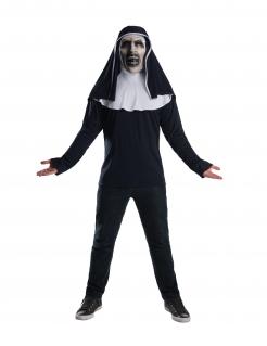 The-Nun™-Kostüm für Erwachsene Halloween schwarz-weiß