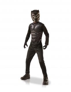 Black Panther™-Kostüm für Kinder in Geschenkbox schwarz